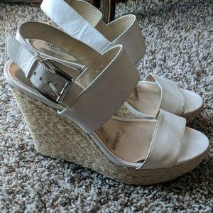 Summer White Michael kors woven sandals